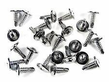 "GM Chrome Self Tap #8 x 1/2"" Phillips Washer Head Trim Screws- Qty.25- #230"