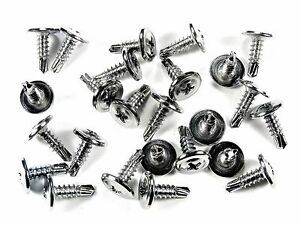 "GM Chrome Self Tap #8 x 1/2"" Phillips Washer Head Trim Screws- Qty.25- #230"