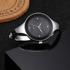 NEUEdelstahl Damen Lässig Armbanduhr Uhr Slim Band Kristall  Analog Quarz Watch