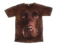 The Mountain Kid's Chocolate Lab Face T-Shirt Tee Youth S-M-L-XL NWT Made in USA
