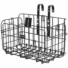 PEDALPRO BLACK WIRE MESH FRONT/REAR FOLDING BIKE/BICYCLE SHOPPING STORAGE BASKET