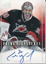 2011/12 Panini Prime #14 Cam Ward Prime Signatures Insert - HARD SIGNED