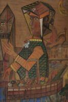 Albert SEUFFERT 1884 - 1957 - Mädchen mit Drachen - datiert 48