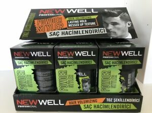 NEW!!!     1 BOX 12 X 20 gr NEW WELL Hair Styling Powder  Volume & Styling