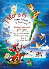 Peter Pan Invitation, Tinkerbell Party, Captain Hook Birthday Invite