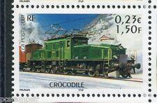 FRANCE 2001, timbre 3407, TRAIN LOCOMOTIVE CROCODILE, neuf**, VF MNH STAMP