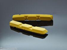 V Freno XTR per Shimano, Sram giallo inserti CARTUCCIA 72 mm Fibrax 2 PAIA
