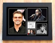 GEORGE MICHAEL SIGNED / AUTOGRAPHED AND FRAMED PRINT