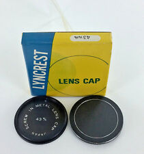 43 mm METAL screw-in LENS CAP Lyncrest made in JAPAN