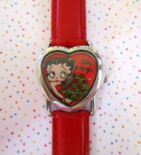 Betty Boop Wrist Watch Heart Face Red Adjustable Buckle Licensed