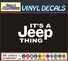 "6"" It's a Jeep Thing 4x4 Funny Cartoon Truck car suv window vinyl sticker decal"