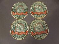 SET OF 4 VINTAGE MOOSEHEAD CANADIAN LAGER BEER PAPER CARDBOARD COASTERS