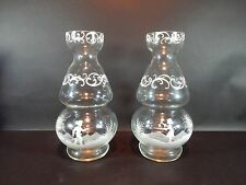 Pair of Authentic Mary Gregory Vases 11 inches