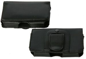 Telstra Cruise T126 ZTE Universal Side-Carry Leather Pouch with Belt Clip & Loop