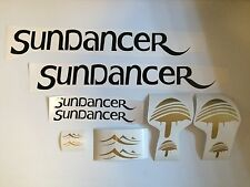 4 Sea Ray Sundancer MARINE VINYL Sun Dancer Boat Decals 2- 24 inch &  2-11x3.5