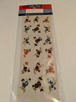 vintage Color Brite Water-Mount Slide Ceramic Decals Mixed Colorful Flowers