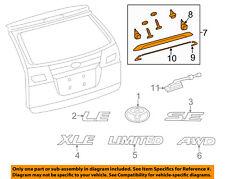 TOYOTA OEM 11-16 Sienna Liftgate Tailgate Hatch-Molding Assembly 7680108040