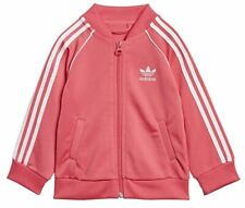 adidas ED7670 Toddlers Originals Superstar Track Suit Real Pink / White