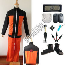 Japanese Anime Naruto Cosplay Costume Uzumaki Cosplay Naruto Costume Whole Set