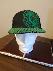 DC Comic Green Lantern Baseball Cap Logo On Brim and Front Of Cap