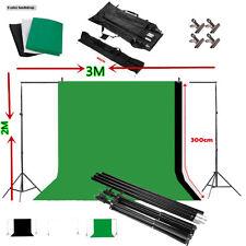 Background Stand Kit Photography Set + Photo Studio Black White Green Backdrop