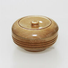 Beech Wood Bowl Mug With A Lid for Wet Shaving Soap Cream Foam Container