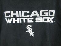 MLB Chicago White Sox Mens T Shirt Size 2XL Crew Neck Majestic Adult Black
