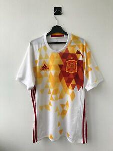 SPAIN NATIONAL TEAM 2016 AWAY FOOTBALL SOCCER SHIRT JERSEY CAMISETA ADIDAS WHITE