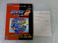 Rockman 2 Dr. Wily's Mystery Capcom Game Book Sony PS1 Playstation Japan