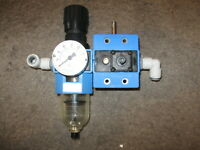 Festo Pneumatic Filter Regulator & Gauge # LFR-D-1/4-S-B-NPT / MFHE-3-1/4-B