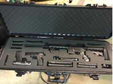 "Tactical Gun Case Hard Shell 42"" Plano Waterproof AR 15 Rifle Scope Firearm Safe"