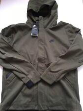 New Nike Sportswear Tech Fleece Repel Windrunner Olive 867658 325 Men's sz L