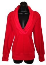 Old Navy Large Women Sweater Top Red Polyester Long Sleeve V-Neck