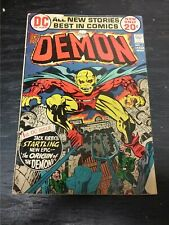 1972 Dc Comics The Demon #1 Torn Cover Key Jack Kirby Bagged And Boarded