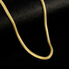 Cool 24K Gold Plated Soft Fish Bone Strong Men Chain Necklace 4MM 20inch JP179