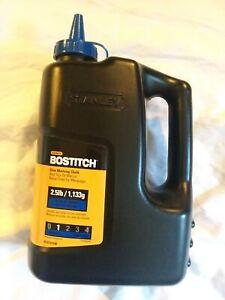 STANLEY BOSTITCH BLUE Marking Chalk Refill, 2.5 lbs. !