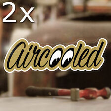 2x pieces Aircooled sticker decal bug beetle bus cox adesivo gold metallic 5.25""