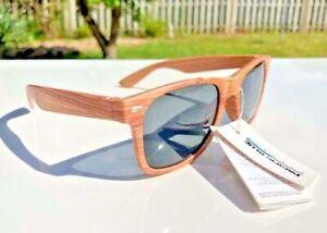 Mens Ladies Bamboo Wooden effect Festival Sunglasses Retro wood NEW