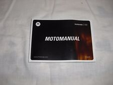 Motorola C168i Cell Phone MotoManual User Guide/Manual