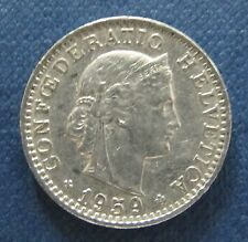 """Münze 20 Rappen Schweizer Franken 1959 """"B"""" aus Umlauf gültiges Zahlungsmittel"""