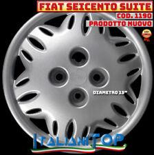 """FIAT SEICENTO 600 SUITE Copricerchio Borchia QUATTRO (4) coppa ruota 13"""" 1190"""
