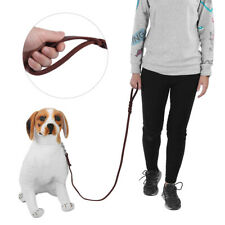 Pet Dog Lead Leash Safety Rope Leather Belt For Walking Running Training (2.1m
