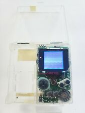 Clear Gameboy DMG With Backlight and Bivert, with Zelda and Case!