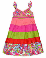 Girls Cotton Sundress Kids Summer Sun Dresses New Age 3 4 5 6 7 8 9 10 Years