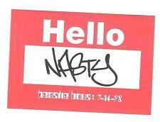 """7-14-1998 Beastie Boys Hello Nasty Nametag Sticker name tag badge promo 2.5x3.5"""""""