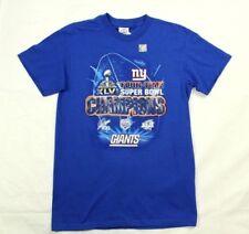 30f94eaea New York Giants Super Bowl XLVI Champions Men s Blue T Shirt Size S