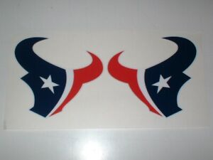 HOUSTON TEXANS FULL SIZE FOOTBALL DECALS