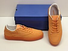 Reebok Club C 85 Canvas Orange Tennis Athletic Casual Sneakers Shoes Womens 10.5