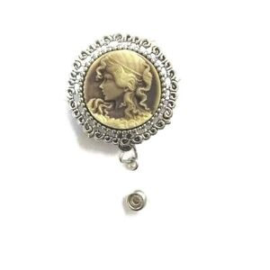 Cameo 3D Gold and Silver badge holder professional ID wear, perfect gift