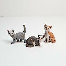 Fontanini Cats Italian Nativity Village Figurines Set of 3 Vintage Animals Lot